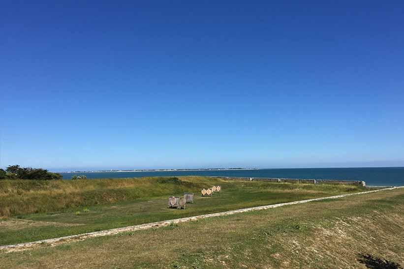 Hafenmauer Isle de Re